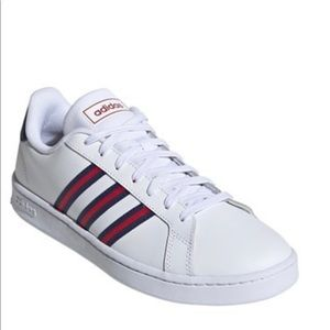 Adidas tennis Athletic shoes sneaker 3 stripe red
